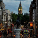 England, London, Big Ben and a street